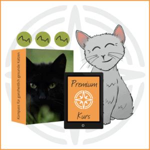 BARF Premium Kurs Icon mit Katze